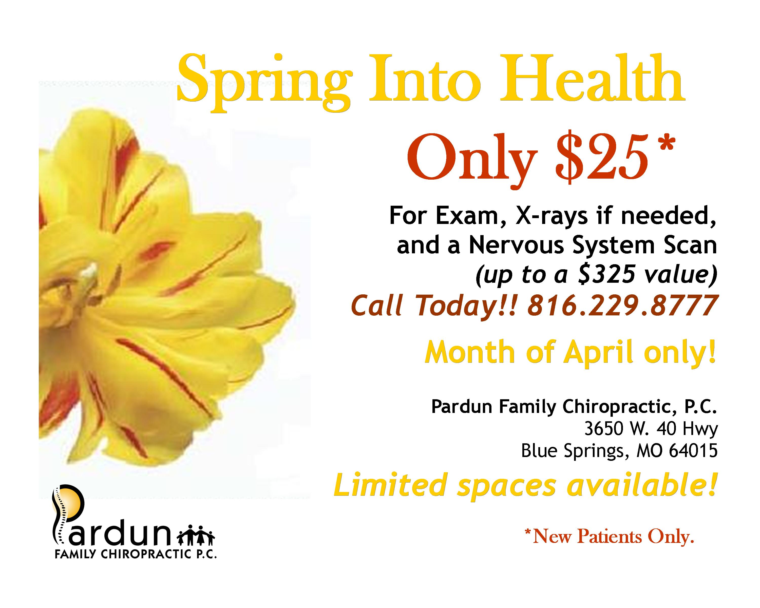 Spring Is Here Lets Spring Into Health Pardun Family